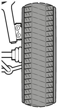 Reifenverschleiß in der Mitte
