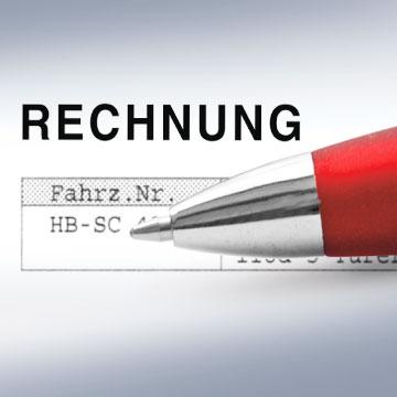 Kugelschreiber und Reparaturrechnung