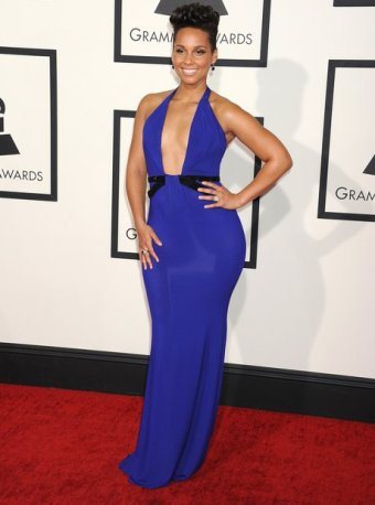 Alicia Keys in Armani Prive at the 2014 Grammy Awards