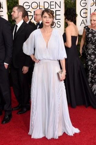 Amanda Peet attends the 72nd annual Golden Globe Awards