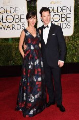 Benedict Cumberbatch and Sophie Hunter attends the 72nd annual Golden Globe Awards