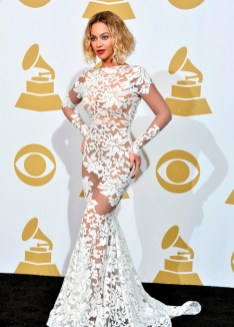 Beyonce in Michael Costello at the 2014 Grammy Awards
