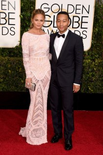 Chrissy Teigen and John Legend attends the 72nd annual Golden Globe Awards