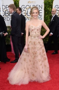 Greer Grammer (Miss Golden Globes) attends the 72nd annual Golden Globe Awards