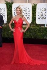 Heidi Klum attends the 72nd annual Golden Globe Awards