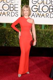 Jane Fonda attends the 72nd annual Golden Globe Awards
