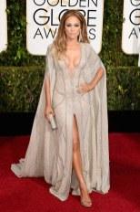Jennifer Lopez attends the 72nd annual Golden Globe Awards