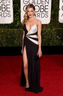 Katie cssidy attends the 72nd annual Golden Globe Awards