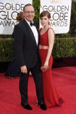Kevin Spacey and Kate Maraattends the 72nd annual Golden Globe Awards