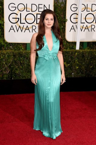 Lana Del Rey attends the 72nd annual Golden Globe Awards