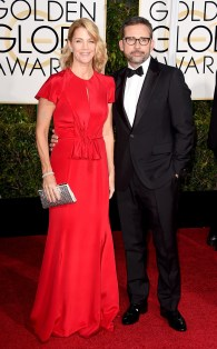 Steve and Nancy Carell attends the 72nd annual Golden Globe Awards