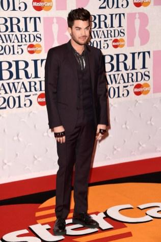 Adam Lambert at the 2015 Brit Awards
