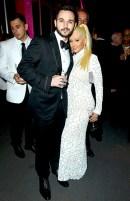 Christina Aguilera and her fiancé Matt Rutler