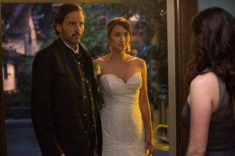 """GRIMM -- """"Thanks for the Memories"""" Episode 401 -- Pictured: (l-r) Silas Weir Mitchell as Monroe, Bree Turner as Rosalee Calvert -- (Photo by: Scott Green/NBC)"""