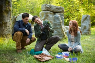"The Librarians: Series Premiere: ""And the Crown of King Arthur"" – Sunday, December 7, PHOTOGRAPHER SCOTT PATRICK GREEN, PERSONALITIES NOAH WYLE, CHRISTIAN KANE, LINDY BOOTH"