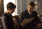 "GOTHAM: Detective James Gordon (Ben McKenzie, R) gives Bruce Wayne (David Mazouz, L) new information on his parents' case in the ""Harvey Dent"" episode of GOTHAM airing Monday, Nov. 17 (8:00-9:00 PM ET/PT) on FOX. ©2014 Fox Broadcasting Co. Cr: Jessica Miglio/FOX"
