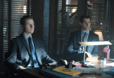 """GOTHAM: Detective James Gordon (Ben McKenzie, L) and Harvey Dent (guest star Nicholas D'Agosto, R) are reprimanded by the Mayor in the """"Lovecraft"""" episode of GOTHAM airing Monday, Nov. 24 (8:00-9:00 PM ET/PT) on FOX. ©2014 Fox Broadcasting Co. Cr: Jessica Miglio/FOX"""