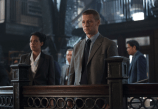 "GOTHAM: An unwelcome visitor searches for Detective James Gordon (Ben McKenzie, R) at the GCPD in the ""Penguin's Umbrella"" episode of GOTHAM airing Monday, Nov. 3 (8:00-9:00 PM ET/PT) on FOX. Also pictured: Zabryna Guevara. ©2014 Fox Broadcasting Co. Cr: Jessica Miglio/FOX"