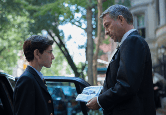 "GOTHAM: Alfred (Sean Pertwee, R) presents Bruce (David Mazouz, L) with his father's watch in the ""The Mask"" episode of GOTHAM airing Monday, Nov. 10 (8:00-9:00 PM ET/PT) on FOX. ©2014 Fox Broadcasting Co. Cr: Jessica Miglio/FOX"