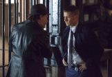 "GOTHAM: Detectives James Gordon (Ben McKenzie, R) and Harvey Bullock (Donal Logue, L) disagree about ethics in the ""The Mask"" episode of GOTHAM airing Monday, Nov. 10 (8:00-9:00 PM ET/PT) on FOX. ©2014 Fox Broadcasting Co. Cr: Jessica Miglio/FOX"
