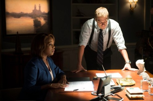 """STATE OF AFFAIRS -- """"Secrets & Lies"""" Episode 102 -- Pictured: (l-r) Alfre Woodard as President Constance Payton, David Harbour as Chief of Staff David Patrick -- (Photo by: Neil Jacobs/NBC)"""