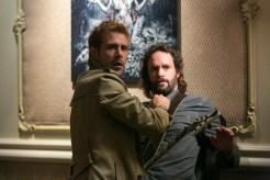 """CONSTANTINE -- """"The Devil's Vinyl"""" Episode 104 -- Pictured: (l-r) Matt Ryan as John Constantine, Marcus Hester as Ian Fell -- (Photo by: Tina Rowden/NBC)"""