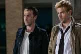 "CONSTANTINE -- ""A Feast of Friends"" Episode 105 -- Pictured: (l-r) Jonjo O'Neil as Gary Lester, Matt Ryan as Constantine -- (Photo by: Tina Rowden/NBC)"