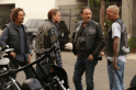 """SONS OF ANARCHY -- """"Red Rose"""" -- Episode 712 -- Airs Tuesday, December 2, 10:00 pm e/p) -- Pictured: (L-R) Kim Coates as Tig Trager, Charlie Hunnam as Jax Teller, Tommy Flanagan as Chibs Telford, David Labrava as Happy. CR: Byron Cohen/FX"""