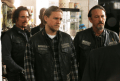 "SONS OF ANARCHY -- ""Red Rose"" -- Episode 712 -- Airs Tuesday, December 2, 10:00 pm e/p) -- Pictured: (L-R) Kim Coates as Tig Trager, Charlie Hunnam as Jax Teller, Tommy Flanagan as Chibs Telford. CR: Byron Cohen/FX"