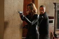 """MARVEL'S AGENTS OF S.H.I.E.L.D. - """"What They Become"""" - Coulson and Whitehall's forces meet in an explosive confrontation that dramatically alters everyone's fates. Meanwhile, Skye discovers shocking secrets about her past, on the Winter finale of """"Marvel's Agents of S.H.I.E.L.D.,"""" TUESDAY, DECEMBER 9 (9:00-10:00 p.m., ET) on the ABC Television Network. (ABC/Kelsey McNeal) ADRIANNE PALICKI, NICK BLOOD"""