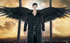 DOMINION -- Season:1 -- Pictured: Tom Wisdom as Archangel Michael -- (Photo by: Gavin Bond/Syfy)