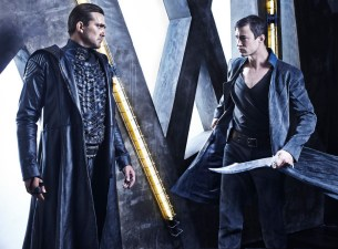 DOMINION -- Season:1 -- Pictured: (l-r) Carl Beukes as Archangel Gabriel, Tom Wisdom as Archangel Michael -- (Photo by: Gavin Bond/Syfy)