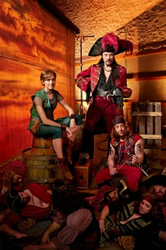 PETER PAN LIVE! -- Season: 2014 -- Pictured: (l-r) Allison Williams as Peter Pan, Christopher Walken as Captain Hook, Christian Borle as Smee, Pirates -- (Photo by: Virginia Sherwood/NBC)