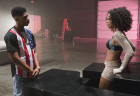 "EMPIRE: Hakeem (Bryshere Gray, L) is smitten with Tiana (guest star Serayah McNeill, R) in the ""Outspoken King"" episode of EMPIRE airing Monday, Jan. 14 (9:00-10:00 PM ET/PT) on FOX. ©2014 Fox Broadcasting Co. CR: Chuck Hodes/FOX"