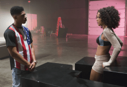 """EMPIRE: Hakeem (Bryshere Gray, L) is smitten with Tiana (guest star Serayah McNeill, R) in the """"Outspoken King"""" episode of EMPIRE airing Monday, Jan. 14 (9:00-10:00 PM ET/PT) on FOX. ©2014 Fox Broadcasting Co. CR: Chuck Hodes/FOX"""
