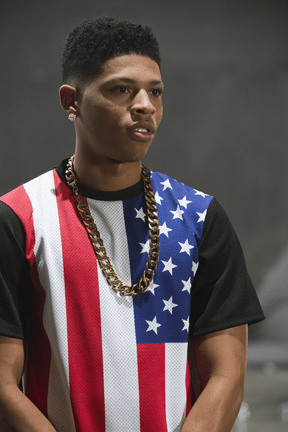 "EMPIRE: Hakeem (Bryshere Gray) is smitten by a female music act in the ""Outspoken King"" episode of EMPIRE airing Monday, Jan. 14 (9:00-10:00 PM ET/PT) on FOX. ©2014 Fox Broadcasting Co. CR: Chuck Hodes/FOX"