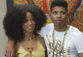 """EMPIRE: Hakeem (Bryshere Gray, R) introduces his new girlfriendd Tiana (guest star Serayah McNeill, L) in the """"The Devil Quotes Scripture"""" episode airing Wednesday, Jan. 21 (9:00-10:00 PM ET/PT) on FOX. . ©2014 Fox Broadcasting Co. CR: Chuck Hodes/FOX"""