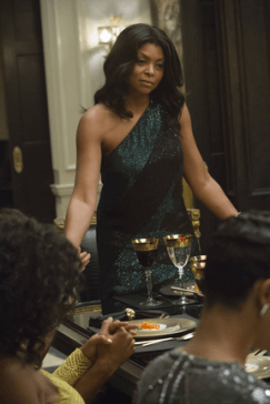 "EMPIRE: Cookie (Taraji P. Henson, L) syas grace in the ""The Devil Quotes Scripture"" episode airing Wednesday, Jan. 21 (9:00-10:00 PM ET/PT) on FOX. ©2014 Fox Broadcasting Co. CR: Chuck Hodes/FOX"