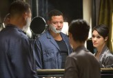 """EMPIRE: Lucious (Terrence Howard, L) tells Anika (Grace Gealey, R) that he has ALS in the """"False Imposition"""" episode of EMPIRE airing Wednesday, Jan. 28 (9:00-10:00 PM ET/PT) on FOX. ©2014 Fox Broadcasting Co. CR: Chuck Hodes/FOX"""
