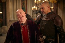"""GALAVANT - """"Two Balls"""" (8:00-8:30 p.m., ET) - A visit to Sid's hometown reveals he has not been truthful about his career path. While Galavant and Isabella back up Sid's stories, King Richard decides to throw a ball to cheer up the people of Valencia. The highly-anticipated comedy extravaganza, """"Galavant,"""" will air its third and fourth half-hour episodes back to back on SUNDAY, JANUARY 11 (8:00-9:00 p.m., ET) on the ABC Television Network. (ABC/Todd Antony) NICK HOLDER, VINNIE JONES"""