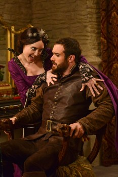 "GALAVANT - ""Dungeons and Dragon Lady"" - While Galavant struggles with the realization about his true love, King Richard goes on a voyage of self-discovery, thanks to a potion from the magician, Xanax (guest star Ricky Gervais). As Galavant draws closer to the woman he really loves, an emboldened King Richard starts to assert himself, just as his meaner, elder brother returns-Kingsley (Rutger Hauer) on ""Galavant,"" airing SUNDAY, JANUARY 18 (8:30-9:00 p.m., ET) on the ABC Television Network. (ABC/Daniel Liam) MALLORY JANSEN, JOSHUA SASSE"