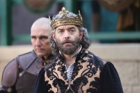"GALAVANT - ""Death After Brunch"" - Thinking about being in a relationship, Isabella wants Galavant to try to impress her parents with attentive small talk, but he's confident that breaking everyone out of prison will impress them and save them from certain death. Galavant gets his opportunity for a hero moment when King Richard challenges his brother to a duel and needs a champion to fight for him, on ""Galavant,"" airing SUNDAY, JANUARY 25 (8:00-8:30 p.m., ET) on the ABC Television Network. (ABC/Nick Ray) VINNIE JONES, TIMOTHY OMUNDSON"