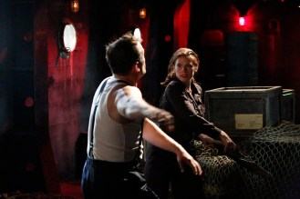 """MARVEL'S AGENT CARTER - """"Time & Tide"""" - As Agent Carter closes in on Howard Stark's stolen technology, Peggy's secret mission could unravel when the SSR arrests Jarvis and a secret is revealed, on """"Marvel's Agent Carter,"""" TUESDAY, JANUARY 13 (9:00-10:00 p.m., ET) on the ABC Television Network. (ABC/Kelsey McNeal) PATRICK ROBERT SMITH, HAYLEY ATWELL"""