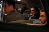 "MARVEL'S AGENT CARTER - ""The Blitzkrieg Button"" - Peggy may be in more trouble than usual when fugitive Howard Stark suddenly returns for mysterious reasons. And Chief Dooley chases a new clue all the way to Europe that threatens to destroy Peggy's future at the SSR, on ""Marvel's Agent Carter,"" TUESDAY, JANUARY 27 (9:00-10:00 p.m., ET) on the ABC Television Network. (ABC/Matt Kennedy) JAMES D'ARCY, HAYLEY ATWELL, DOMINIC COOPER"
