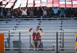 "GLEE: Alumni Artie (Kevin McHale) returns to McKinley High in the second part of the special two-hour ""Loser Like Me/Homecoming"" Season Premiere episode of GLEE on Friday, Jan. 9 (8:00-10:00 PM ET/PT) on FOX. ©2014 Fox Broadcasting Co. CR: Adam Rose/FOX"
