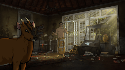 "ARCHER: Episode 1, Season 6 ""The Holdout"" (Airing Thursday, January 8, 10:00 PM e/p) Archer must salvage a crashed plane in a jungle filled with relics from World War II. Pictured: Sterling Archer (voice of H. Jon Benjamin). CR: FX"