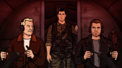 """ARCHER: Episode 1, Season 6 """"The Holdout"""" (Airing Thursday, January 8, 10:00 PM e/p) Archer must salvage a crashed plane in a jungle filled with relics from World War II. Pictured: (center) Sterling Archer (voice of H. Jon Benjamin). CR: FX"""