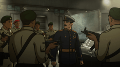 """ARCHER: Episode 2, Season 6 """"Three to Tango"""" (Airing Thursday, January 15, 10:00 PM e/p) An agent from the past has a hand creating tension between Archer and Lana. Pictured: (center) Sterling Archer (voice of H. Jon Benjamin). CR: FX"""