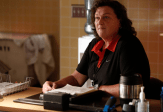 "GLEE: Dot-Marie Jones as Coach Beiste in the ""Jagged Little Tapestry"" episode of GLEE airing Friday, Jan. 16 (9:00-10:00 PM ET/PT) on FOX. ©2014 Fox Broadcasting Co. CR: Tyler Golden/FOX"