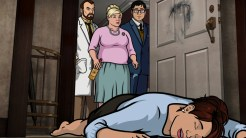 """ARCHER: Episode 3, Season 6 """"The Archer Sanction"""" (Airing Thursday, January 22, 10:00 PM e/p) Archer, Lana and Ray climb their way to the top of an assassin's hit list. Pictured: (L-R) Dr. Krieger (voice of Lucky Yates), Pam Poovey (voice of Amber Nash), Cyril Figgis (voice of Chris Parnell), Cheryl Tunt (voice of Judy Greer). CR: FX"""